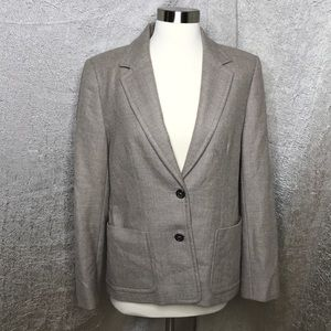 J. Crew Tan Wool 2 Button Blazer Size 6